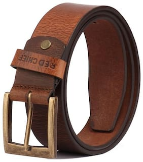 Red Chief Men Brown Leather Belt (Size: 32 , Pack of 1 )