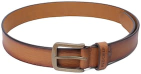Red Chief Men Brown Leather Belt (Size: 34 , Pack of 1 )