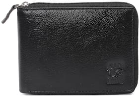 Red Chief Men Black Leather Bi-Fold Wallet ( Pack of 1 )