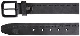 Red Chief Men Black Leather Belt (Size: 46 , Pack of 1 )