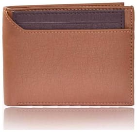 Regular use pure leather wallet for men ( half cut mix tan  &  brown bacha -1)