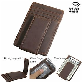 RFID Leather Slim Money Clip Wallet Credit ID Card Driver License Holder Purse