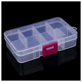 Right traders Plastic 8 Slots Adjustable Jewelry Storage Box Case Craft Organizer Bead Crazy