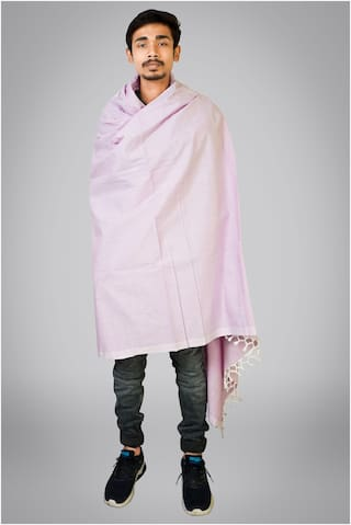 Riyashree Men Wool Shawl - Pink
