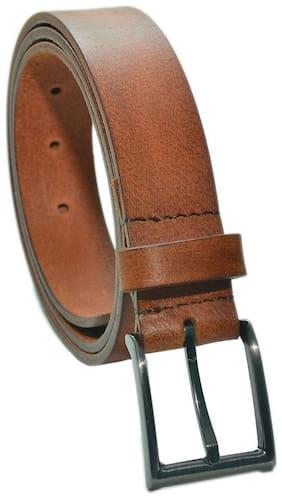 Random Mens Genuine Leather Harness Two Tone Belt (Brick)(RDMBTTN2TBRIC)