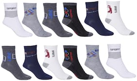 Royal Son Multicolor Ankle Socks For Men and Women (Pair of 12)