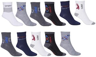 Royal Son Multicolor Ankle Socks For Men and Women (Pair of 11)