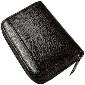 ROZVOLT Men & Unisex Leather Card holder - Black , Pack of 1
