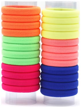 Pack of 24 Assorted Colorful Rubber Bands