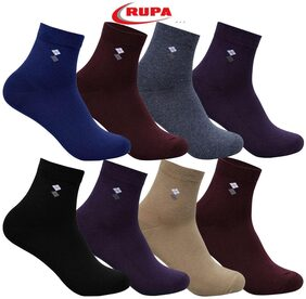 Rupa Men's Cotton Assorted Long Socks - Pack of 8 Pair