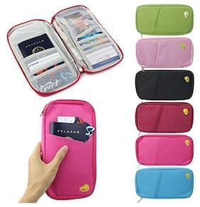 Sandilor Multifuctional  Unisex wallet Passport ID Credit Card Holder Wallet Organizer Bag Case Pouch-Assorted Colours