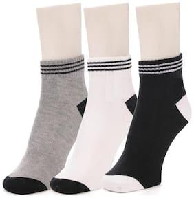 Sandilor Unisex Cotton Multicolour Ankle Length Socks-3 Pairs