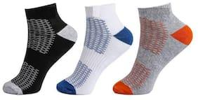 Sandilor Multi Cotton Ankle length socks ( 3 pairs )