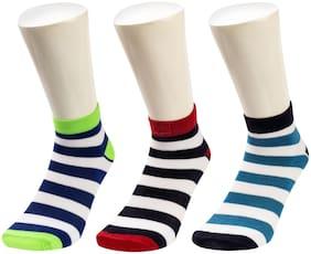 Sandilor Multi Cotton Ankle length socks ( Pack of 3 )