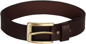SCHARF Men Brown Leather Belt (Size: 40 , Pack of 1 )