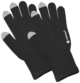 SellnShip Men Wool Glove - Black