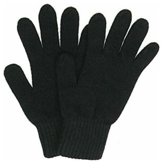 SellnShip Unisex Wool Glove - Black