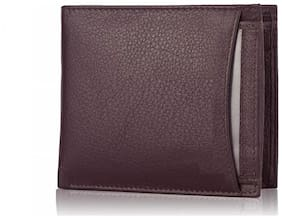 separable pocket  pure leather (pu) wallet ( New brown bacha -2)