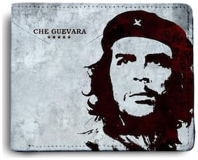 ShopMantra Che Guevara Start Printed Canvas Leather Wallet for Men's