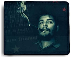 ShopMantra Che Guevara Smoking Printed Canvas Leather Wallet for Men's