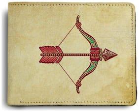 ShopMantra Zodiac Sagittarius Printed Canvas Leather Wallet for Men's