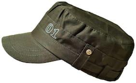 Short Peak Olive color captain caps