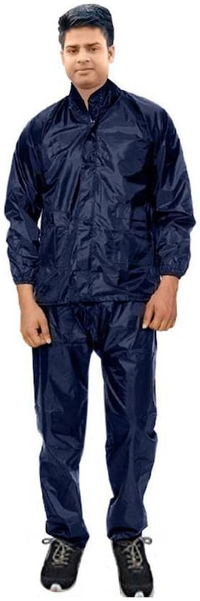 Shree Jee Men Nylon Blue Rain Suit ( Xl , Pack of 1 )