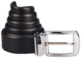 Siganra Formal Black-Brown Reversible Rotating Buckle Belt For Men
