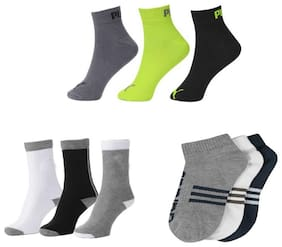 Signara Ankle Length Socks ( Pack of 9 )