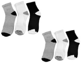 Signara  Designer Ankle Length Socks ( Pack Of 6 )
