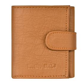 Skmei Men Tan Leather Bi-Fold Wallet ( Pack of 1 )