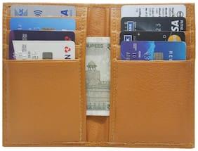 Slim Tan Credit Card Holder with 8 Card Slot