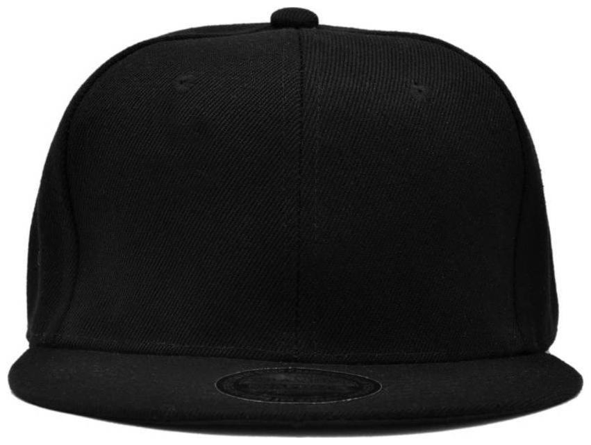 Solid Black Snapback Hiphop Cap