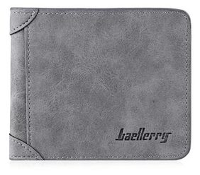 Baellerry Men's Leather Wallet (Grey)