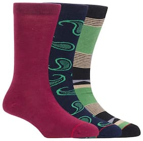 Soxytoes Cherry Pop Men Multi-Coloured Pack Of 3 Formal Socks
