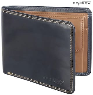 Spairow Men Blue Leather Bi-Fold Wallet ( Pack of 1 )