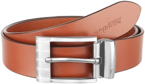 SPAIROW Dek Men'S Tan Genuine Leather  Belts