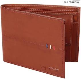SPAIROW Men'S Leather Wallet (EK-0102_Brown)