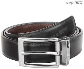 Spairow RD Men'S Leather Black & Brown Belt (RD-040102R)