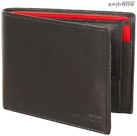 Spairow Men Black Leather Bi-Fold Wallet ( Pack of 1 )