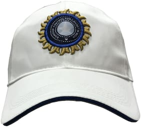Sports Indian White Team Cotton Baseball Cap