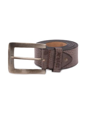 Spykar Brown Leather Casual Belt - Pack of 1