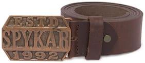 Spykar Men Brown Leather Belt (Size: 38 , Pack of 1 )
