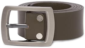 Spykar Men Green Leather Belt (Size: 30 , Pack of 1 )