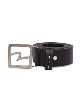 Spykar Mens Black Genuine Leather Belts