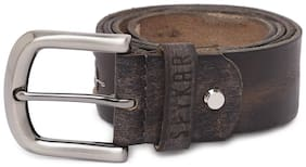 Spykar Men Brown Leather Belt (Size: 34 , Pack of 1 )
