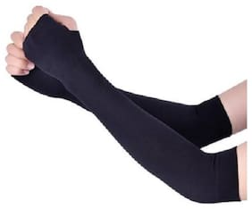 POSHING Women Cotton & Lycra Gloves - Black
