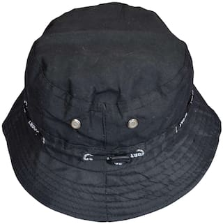 Buy Stylathon Black Plain Cotton Bucket Hat Online at Low Prices in ... 8bb6b325a1d