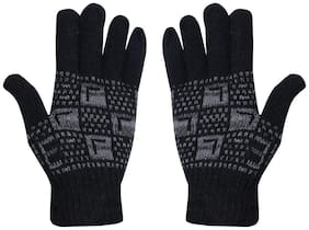Stylathon Men Wool Glove - Black