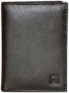 Style 98 Black Genuine Leather Wallet with 12 Card Slots